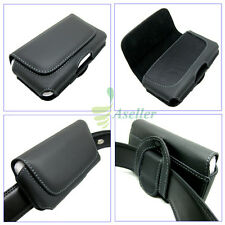 """Genuine Leather Belt Clip Loop Holster Case Magnetic Flip Pouch Cover SKin 5.5"""""""