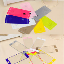 Front + Back Colorful Tempered Glass Screen Protector Flim For iPhone 6 Plus 4.7