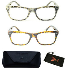 Wayfarer Designer Nerd Square Leopard Tortoise Reading Glasses Women Men Reader