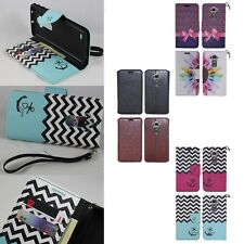 For LG G Flex / G Flex 2 Hybrid Leather Wallet Pouch Flip Credit Card Case Cover