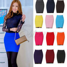 Hot! Mini Slim Skirt Seamless Stretch Tight Short Fitted Candy Dress Clothes