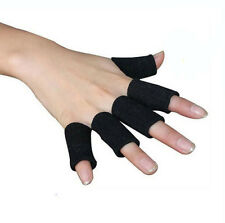 10Pcs Elastic Finger Support Sleeve Arthritis Protector Sports Basketball Wrap