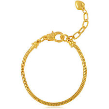 Silver Gold Plated Lobster Clasp Snake Chain Love Stone Infinite Charm Bracelets
