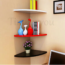 NEW 1Pcs Corner Shelf Wall Mounted Storage Unit Shelving Display Kit Shelves