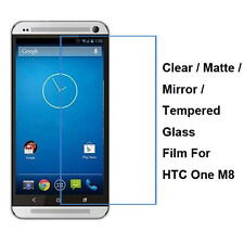 New Tempered Glass / Clear / Matte / Mirror Screen Protector Film For HTC One M8