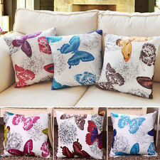 European Classic Butterfly Sofa Throw Pillow Case Cushion Cover Home Decor 45cm
