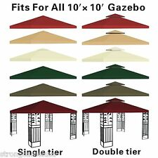New 10x10' Replacement Canopy-Top Patio Pavilion Gazebo Sunshade Polyester Cover