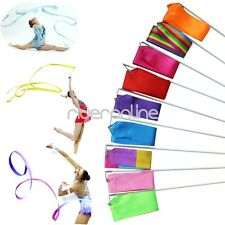 4M Dance Ribbon Gym Rhythmic Art Gymnastic Ballet Streamer Twirling Rod New