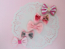 """50 Pre-Made 1.5"""" Pink Ribbon Bow/Hair Craft Supply/Sewing/Trim F9-Pick Design"""