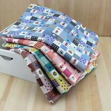 Series 4 pcs Assorted Pre-Cut Fat Quarters Bundle Cotton Quilt Fabric Square