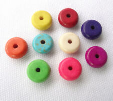 Mixed Turquoise Coin Shape Round Loose Spacer Bead Jewelry Finding 8mm Wholesale