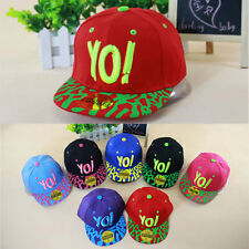 Fashion YOI Hip-hop Hat Baby Girls Boys Child Kids Hat Adjustable Baseball Cap