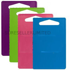 COLOUR HYGIENIC PLASTIC KITCHEN PREPARATION CUTTING FOOD CHOPPING BOARD