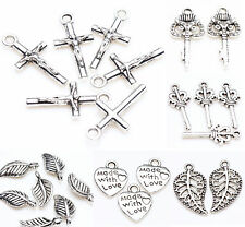 Lots 25/50Pcs Tibet Silver Metal Loose Spacer Charm Pendants Jewelry Finding