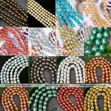 Cultured Rice Oval Fresh Water Pearl Loose Freeform DIY Beads Jewelry Findings