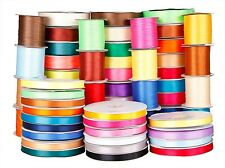 Premium wedding Double Sided Satin Ribbon 3mm 6mm 10mm 16mm 38mm Various Colours