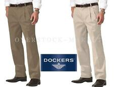NEW MENS DOCKERS D3 CLASSIC FIT ANTI-WRINKLE PLEATED FRONT PANT! VARIETY!