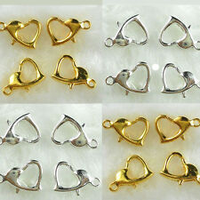 Wholesale 20Pcs Chic Gold/Silver Plated Heart Lobster Clasps Metal Hooks 13X9mm