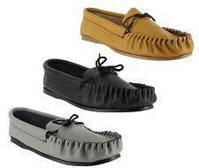 Mens British Hand Made Casual Leather Moccs Moccasins Slippers Sizes 6 to 13