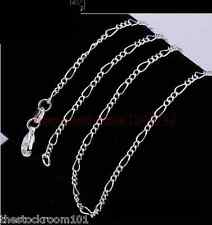 "2.2mm 925 STERLING SILVER FIGARO CHAIN NECKLACE 16 18 20 22 24 26 28"" INCH"