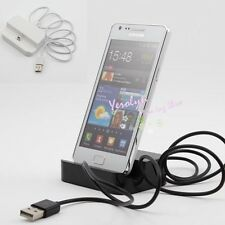 2 Colors Dock Cradle Charger Station & USB Data Cable f. Galaxy S ii Note i9220