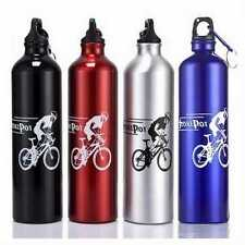 New Cool Cycling Camping Bicycle Sports Aluminum Alloy Water Bottle 750ml