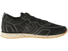 CONVERSE X BY JOHN VARVATOS RACER OX BLACK LEATHER SNEAKERS