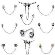 Love Fashion Clip Chain Beads Fit Europeans Charms 925 Sterling Silver Bracelets
