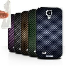 STUFF4 Gel/TPU Case/Cover for Samsung Galaxy S4/SIV/Carbon Fibre Effect/Pattern