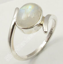 .925 Silver RAINBOW MOONSTONE Men's Ring Choose Any Size 5-10 ONLINE SHOPPING
