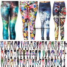 New Arrivals S-M,L-XL GYM YOGA Womens 3D Print Punk Skinny Galaxy Leggings Pants