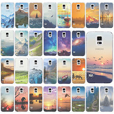 Color Scenery Design Soft TPU Gel Case Cover For Samsung S5 S4 S6 S6 Edge Note4