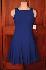Calvin Klein Women's Sleeveless Royal BLUE Fit & Flare seamed Dress 10P or 16