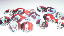 Pre Cut One Inch Bottle Cap Images SCARY CLOWN  Pennywise Free Shipping