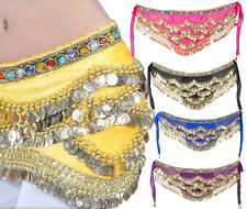 Belly Dance Costume Hip Scarf Skirt Bead Gold Coin Dancer Dancing Wrap Belt New
