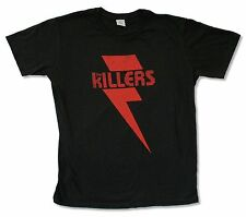 "THE KILLERS ""RED BOLT"" BLACK T-SHIRT NEW OFFICIAL ADULT"