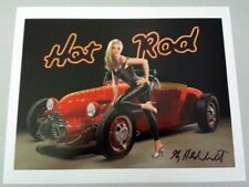 Greg Hildebrandt < Hot Rod > Sexy Pin Up Girl Car Show Hand Signed Art Print