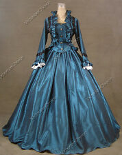 Civil War Victorian Dress Ball Gown Period Reenactment Theatre Costume Punk 170