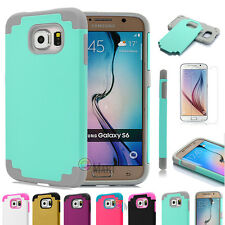 Shockproof Rugged Hybrid Rubber Hard Cover Case For Samsung Galaxy S6 / S6 Edge