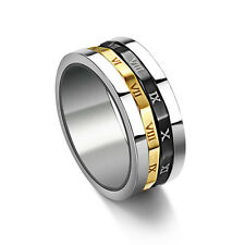 Jewelry Fashion Titanium Rings Size 7-10 Black/Gold Women's Stainless steel Gift