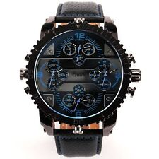 Oulm Luxury Sport 4 Different Colors Quartz Dial Men Stainless Steel Wrist Watch