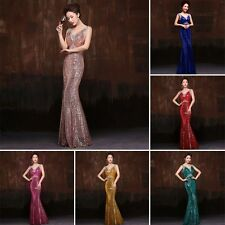 New Princess Evening Gown Bride Toast Dress Sequined Fishtail Dress Long Section
