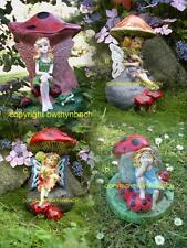 NEW RUBBER LATEX MOULDS MOLD TOADSTOOL MUSHROOM FAIRY GARDEN ORNAMENT 4 DESIGNS