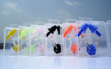 Silicone Swim Ear Plugs And Nose Clip Set With Box For Kids Adults Muti-color