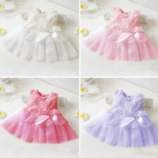 Newborn Baby Girl Tutu Lace Party Dresses Infant Toddler Skirt Children Clothes