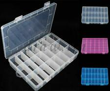 24 Cells Storage Box Case for Rainbow Loom Kit Rubber Bands Charms Hook