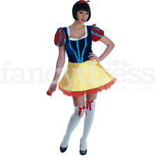 Ladies Womens Storybook Fairytale Snow White Short Film Fancy Dress Costume NEW