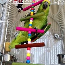 Colorful Bites Chew Swing Bird Toy Parakeet Cockatiel Budgie Parrot Cage Ladder