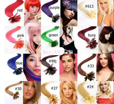 """18""""-32"""" Nail Tip/Keratin Remy Human Hair EXTENSION Any Color,1g/per stand,100S"""