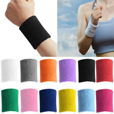 Unisex Cotton Sweat Band Sweatband Wristband Arm Band Basketball Tennis Gym Yoga